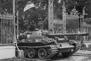 NVA tank in April 1975. Photo by Agence France-Presse/Getty Images.