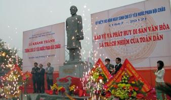 Statue of the Vietnamese patriot Phan Boi Chau