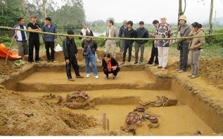 Excavation site in Ha Tinh province, Central Vietnam