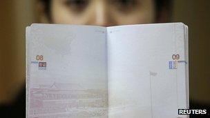 China's false claims extend to its passports. Photo by Reuters.