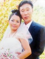Nguyen Thi Diem Trinh and her Korean husband.