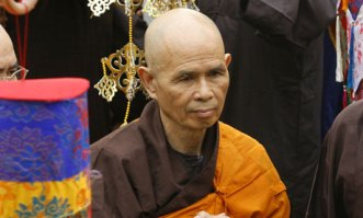 Zen master Thich Nhat Hanh. Photo by AP.