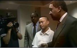 Chau Van and his lawyers, John Burris and Dewitt Lacy