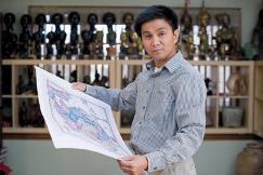 Thang Dinh Tran and his maps.