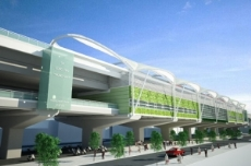 Proposed elevated Metro station