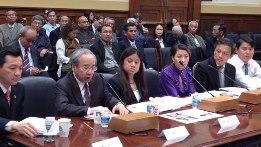 Human rights activists at hearing