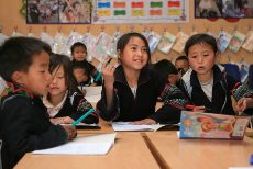 Bi-lingual education are offered to minority studens