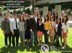 Families of organ recipient and donor