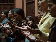 Ethnic minority worshippers