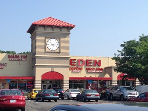 "The main building in Eden Center. The adjacent structure is called ""Saigon East."""