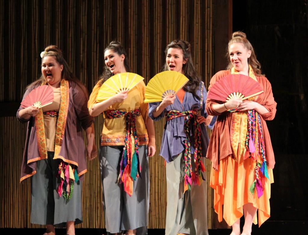 Thị Mầu's four friends: Veronica Amandola, Natalie Weinberg, Anna Hashizume, Joan Snyder. Photo: Anvi Hoàng.