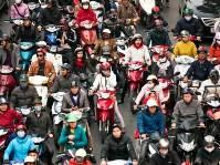 Motorbikes overcrowding