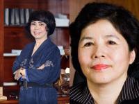 Businesswomen Thai Huong and Mai Kieu Lien