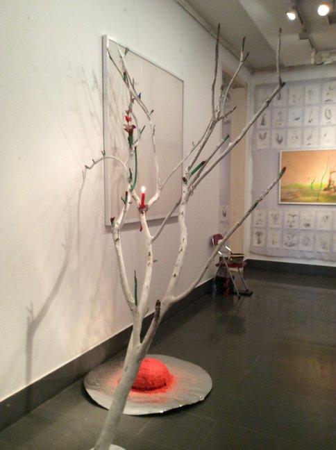 Dao Anh Khanh solo show 'tran' Viet Nam Fine Arts Museum December 2014