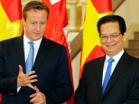 David Cameron and Nguyen Tan Dung
