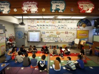 Kindergartners in immersion program