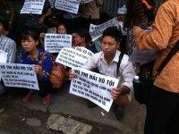 Village protesters