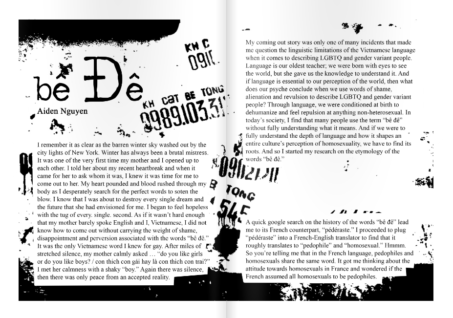 An excerpt from Aiden Nguyễn's essay in Vănguard, Issue 1.