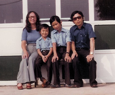 The Nguyen family in 1976.