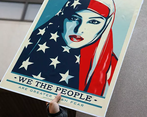 A protest sign at a rally against Donald Trump in Miami last month.