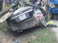 Automobile accident in Vietnam
