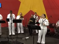 US Sailors entertain