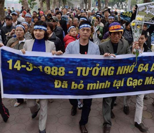Anti-China demonstrators