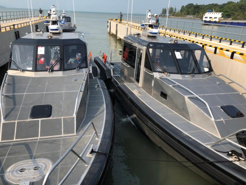 Patrol boats given by the United States to the Vietnamese Coast Guard