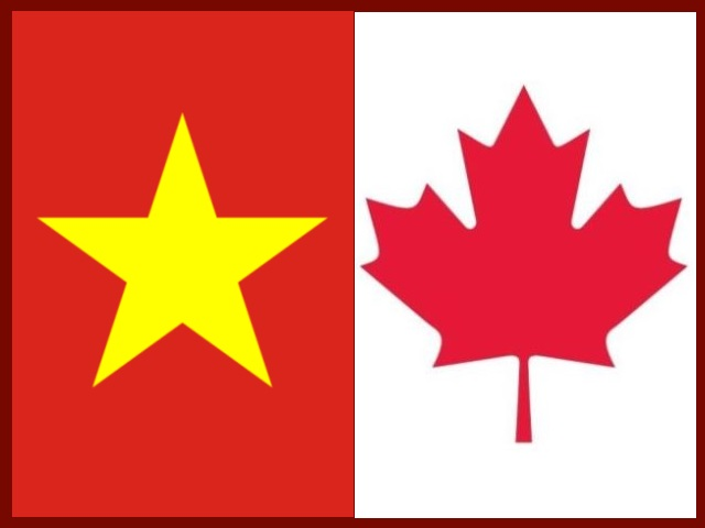 Vietnam and Canada flags