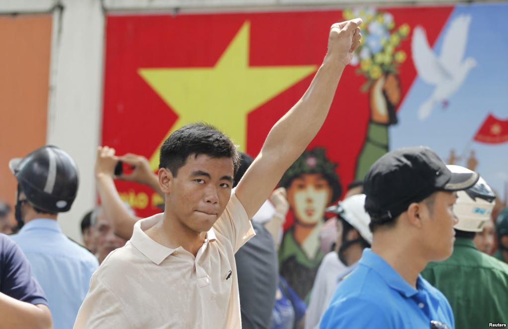 Anti-China protester