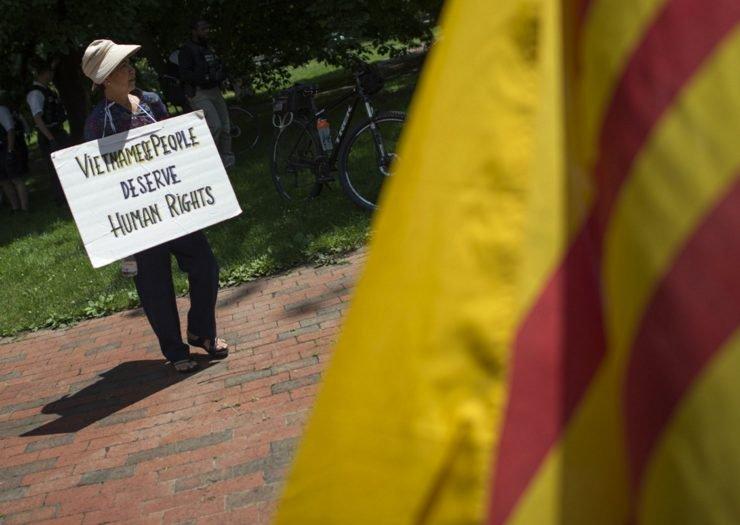 Protesting Trump anti-immigrant policies