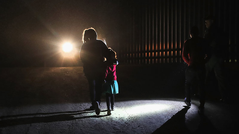 Mother and child at border