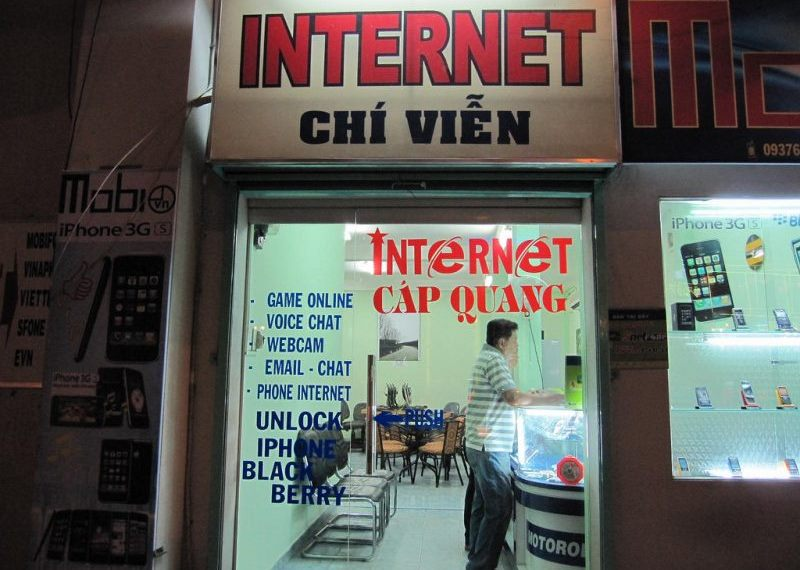Internet Cafe in Vietnam