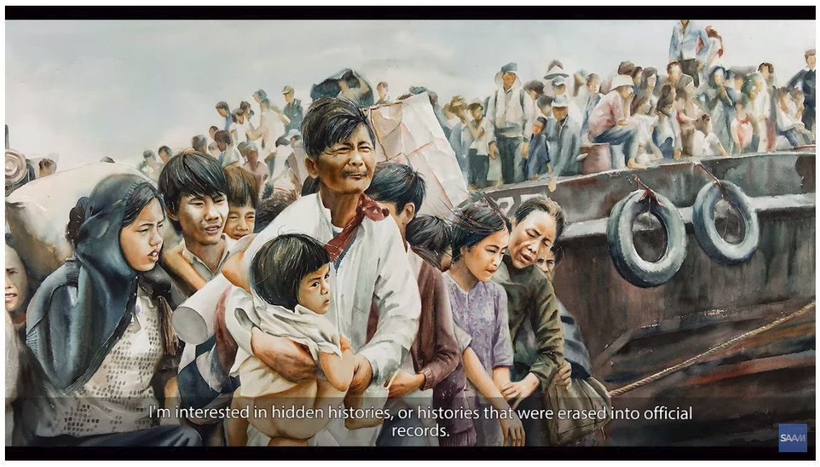 Tiffany Chung's refugees