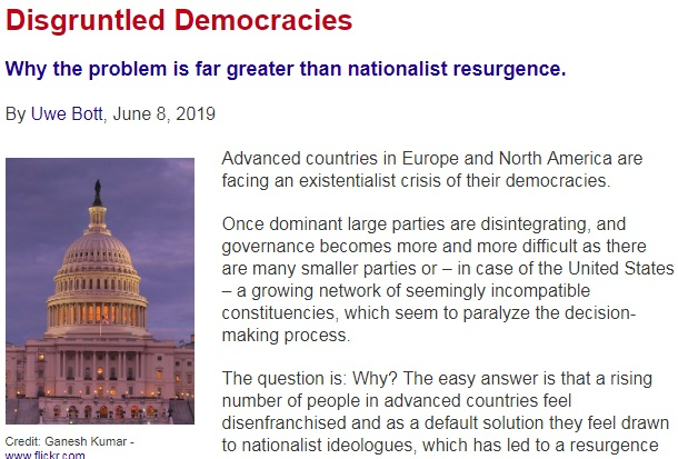 Disgruntled Democracies