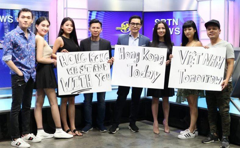 Vietnamese Americans supporting Hong Kong demonstrators