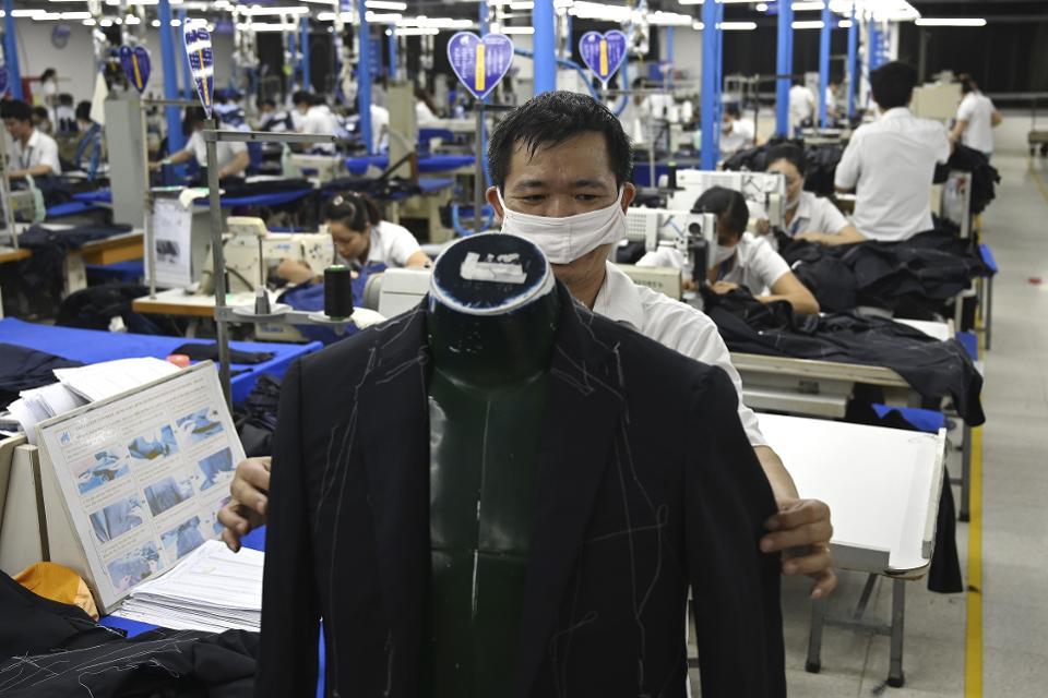 Vietnamese garment worker
