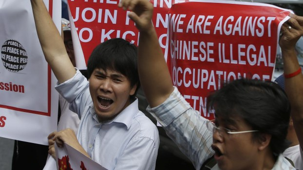Protest against Chinese imperialistic acts