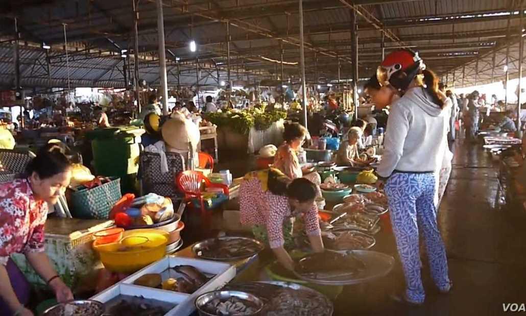 Wet food market in Vietnam