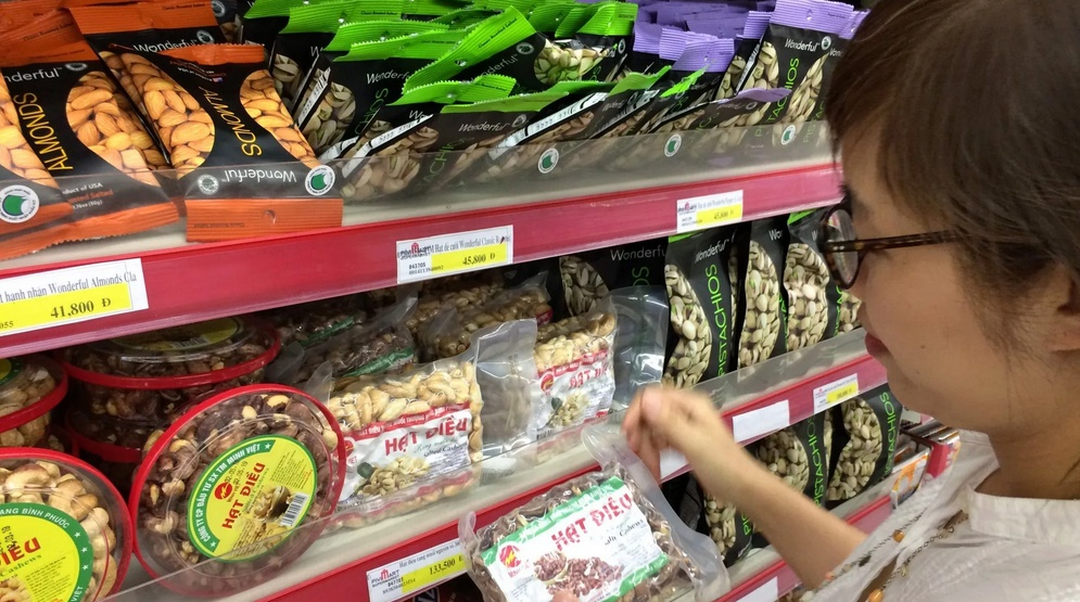Vietnam is major exporter of Cashews
