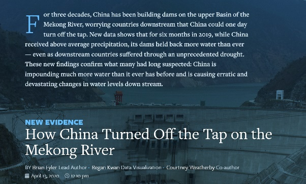 China preventing water flow
