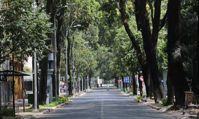 HCMC street emptied