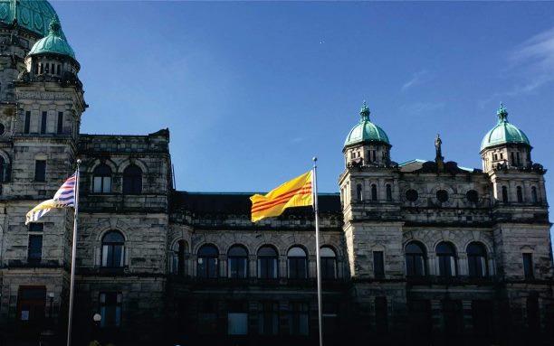 South Vietnam flag flies in Victoria